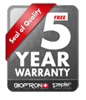 Unmatched 5-Year Warranty on all Bioptron parts / 2 Year Warranty on the bulb